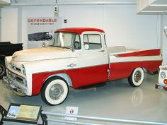 1957 Dodge 100 Sweptside Pickup Red & Alaska White