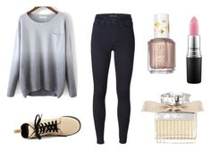 """Untitled #94"" by paigeoctober on Polyvore featuring 7 For All Mankind, Dr. Martens, Essie, MAC Cosmetics and Chloé"