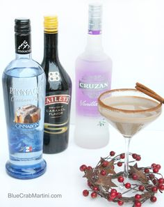 Cinnamon Bun Martini | via BlueCrabMartini.com
