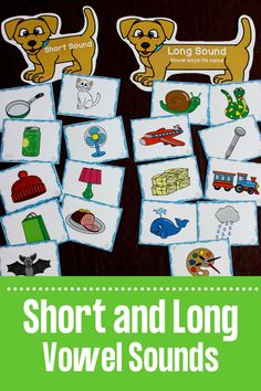 This doggone fun activity is perfect for teaching the difference between short and long vowel sounds. Perfect for small group instruction or as a first grade literacy center activity! Short Vowel Activities, Phonics Activities, Learning Activities, First Grade Phonics, Centers First Grade, Kindergarten Reading Activities, Kindergarten Classroom, Teaching Vowels, Short Vowel Sounds