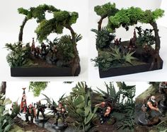 CoolMiniOrNot - Catachan Command Squad Jungle Diorama by Komrad