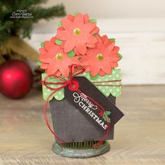 Corri Garza: Lori Whitlock Creative Team - Poinsettia Flower Pot ( a Silhouette project)
