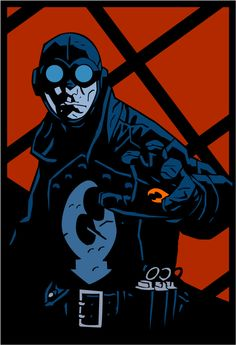 Lobster Johnson by witchking08 on deviantART from Hellboy comic
