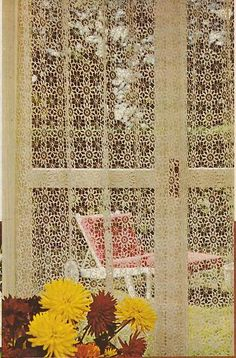Beautiful Crochet Lace Curtains Motif Pattern | eBay