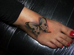 Yet another creative interpretation of a butterfly tat.