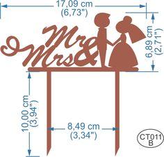 Cake Topper Mr & Mrs. Pedidos/InquirIes to: crearcjs@gmail.com