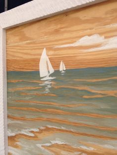 Plywood Art Sails I or Sails II by RedHouseDesignStudio on Etsy, $195.00