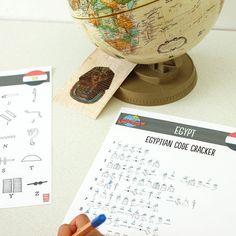 Around the world in 80 days: Egyptian code cracker game