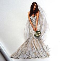 Bridal dress by @naeemkhannyc ❤️❤️❤️ look.illustrated@gmail.com #bridaldesigner #naeemkhan #naeemkhanbridal #bridalillustration #bridaldress #bridalportrait #bridalgift #weddingday #weddingdress #weddinginspo #weddinginspiration #anniversarygift #bridetobe #copicmarkers #copicmarkers #etsybridal #lookillustrated #fashionillustration