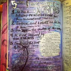Another shocking day of news! Time to ground myself in the source of #hope and #truth #logansfive #prayfornice #prayfordallas #prayforbatonrouge #illustratedfaith #biblejournaling  5 for Forecasted Storms 1. He has a different PERSPECTIVE on this circumstance (Isaiah 55:8-9) 2. Darkness and LIGHT are the same to Him (Psalm 139:12) 3. I'm SAFE in the shelter of His wings (Psalm 91:4-5) 4. He is not confused by these EVENTS (Isaiah 46:10) 5. Clouds are the dust of His feet (Nahum 1:3)