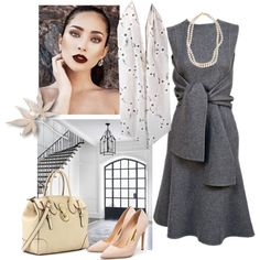 Grey Cashemere Dress by danewhite on Polyvore featuring Rupert Sanderson and STELLA McCARTNEY