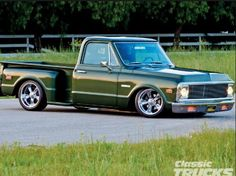 Nice color, stance, overall appearance Dodge Pickup Trucks, 67 72 Chevy Truck, Custom Chevy Trucks, C10 Trucks, Classic Chevy Trucks, Chevrolet Trucks, Pick Up, Chevy Stepside, Chevy Silverado
