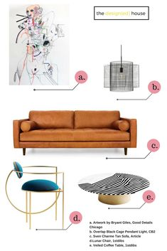 How to Decorate a Living Room--line and rhythm.