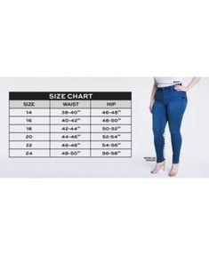 Celebrity Pink Petite Plus Size Infinite Stretch Dawson Super-Skinny Jeans - Blue 20WP