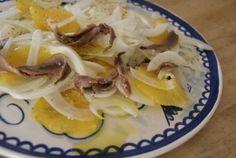 venkelsalade met ansjovis / salad with fennel and orange