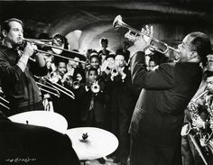 Paul Newman and Louis Armstrong in PARIS BLUES