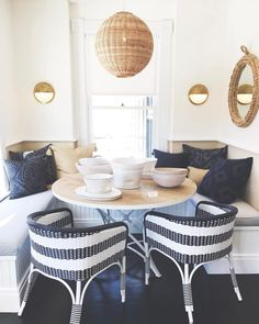 """711 Likes, 10 Comments - Serena & Lily (@serenaandlily) on Instagram: """"Navy & natural: a color pairing we love. Enjoy up to 25% off select dining for a limited time.…"""""""
