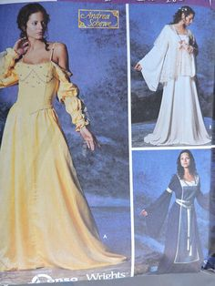 Perfect costume pattern for plays, fairs or any other special events. Includes instructions and pattern to create the shown costumes; Simplicity 5843 pattern is uncut and factory folded. Halloween Costume Patterns, Halloween Costumes, Cool Patterns, Stitch Patterns, Bustier Dress, Adult Costumes, Pattern Fashion, Special Events, Renaissance