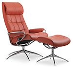 Ekornes Stressless London High Back Leather Recliner and Ottoman - London Chair Lounger - Ekornes Stressless London Recliners, Stressless Chairs, Stressless Sofas and other Ergonomic Furniture.