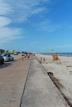 Galveston Seawall-Grab a bike or a skateboard, the seawall is flat and runs for miles.