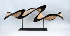 Small Flash on Metal Stand: Kerry Vesper: Wood Sculpture - Artful Home