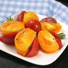 "Heirloom Tomato Salad with Rosemary | ""Added a bit of fresh mozzarella. Perfecto!"""