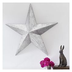 PB Teen Junk Gypsy Glitter Star ($169) via Polyvore featuring home, home decor, holiday decorations, metal home decor, pbteen, handmade home decor and star home decor