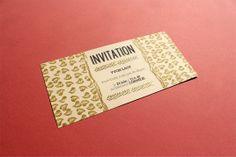 Carton d'invitation - Fait main (Handmade) - Embossage & Tampons (Embossed & Stamps) - par (by) Les Fasces Nébulées