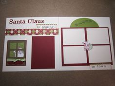 Stampin' Up Christmas Scrapbook Layout Christmas Scrapbook Layouts, Photo Album Scrapbooking, 12x12 Scrapbook, Disney Scrapbook, Scrapbook Sketches, Scrapbook Page Layouts, Scrapbook Albums, Scrapbooking Ideas, Christmas Layout