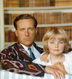 Desmond Guinness and daughter