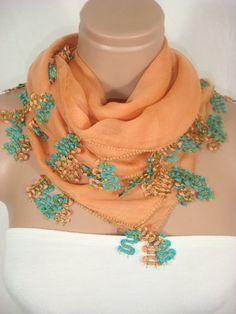 Traditional Turkish Yemeni Pure Cotton Needle Lace Oya by Arzus, $39.90