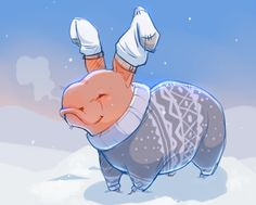 """helmip: """" had a very important conversation with @weenyah about proper nug winter attire (*´꒳`*) """""""