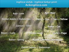 ingilizce türkçe çeviri - http://acikingilizce.com