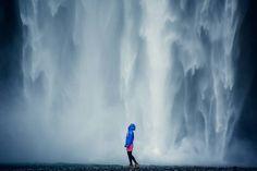 Ranní sprcha ve 4.30, Skógafoss, Island