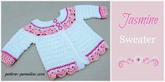 Crochet Pattern for Jasmine Sweater by Pattern-Paradise.com
