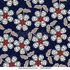 Find Seamless Flower Pattern stock images in HD and millions of other royalty-free stock photos, illustrations and vectors in the Shutterstock collection. Batik Pattern, Pattern Art, Textile Prints, Textile Design, Cute Disney Wallpaper, Flower Wall, Flower Patterns, Royalty Free Photos, Printing On Fabric