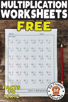 Great for timed practice or for fast finishers. Includes three worksheets and answer keys. Free Printable Multiplication Worksheets, Math Multiplication, Math Fact Practice, Fast Finishers, 3rd Grade Math, Math Facts, Math Teacher, Elementary Math, Free Preschool