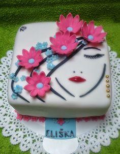 Cupcakes, Cupcake Cakes, Mango Mousse Cake, Hello Kitty Birthday Cake, Cake Design Inspiration, Birtday Cake, Single Layer Cakes, Cakes For Women, Floral Cake