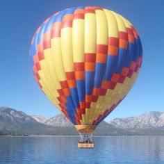 Lake Tahoe - Hot air balloon ride I took. Steve and the kids and I did this the best thing ever