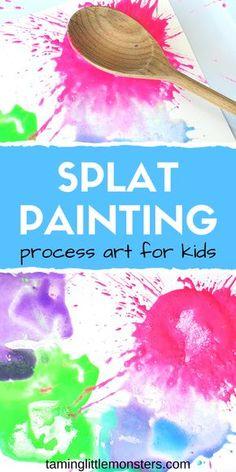 Splat Painting - Process Art Activity for Kids