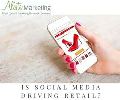 """After years of social media finding its way into sales, it would seem we're on the right track. According to Social Media Week, """"$3.3 billion worth of purchases were directly influenced through social media in 2014."""" http://blog.alistemarketing.com/blog/topic/social-media/is-social-media-driving-retail"""