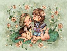 """애뽈 (Aeppol), """"꽃정원 소녀들"""" (""""Flower Garden Girls"""")"""