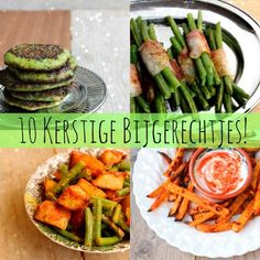 10 Ideale bijgerechten voor het kerstdiner • OngewoonLekker.com Food Inspiration, Asparagus, Vegetarian Recipes, Side Dishes, Good Food, Food And Drink, Vegetables, Healthy, Drinks