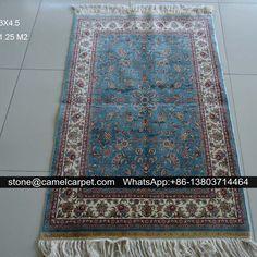 size3x4.5ft,handmade carpet,silk