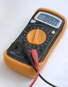 A multimeter or DMM is a useful instrument in  a home toolkit for measuring voltage, current and resistance and also for tracing breaks in wires, testing components and fuses.