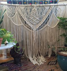 large macrame wall hanging, bohemian decor, boho decor, macrame art, wedding decor, wedding backdrop by Niroma Studio on Etsy https://www.etsy.com/listing/457956420/48-extra-large-macrame-wall-hanging