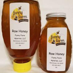 Honey jar labels by Funny Farm Apiaries Honey Jar Labels, Honey Label, Drink Labels, Food Labels, Online Labels, Funny Farm, Local Honey, Label Templates, Raw Honey