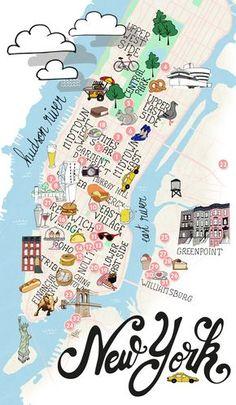 NYC - Manhattan & Brooklyn map of New York                                                                                                                                                                                 Plus