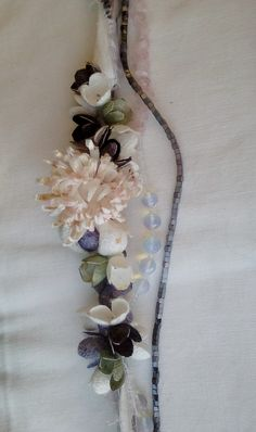 handmade silk cocoons jewelry - necklace - No91b