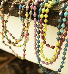 Love 31 BITS!   Their jewelry helps displaced women in Uganda earn an income, provide for their families, and learn a trade.  The jewelry is made from recycled paper.